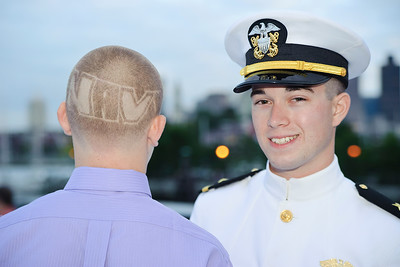 John shaved the word Navy on his head in honor of his cousin!