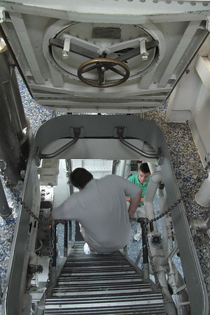 What a workout taking a tour of his ship, these stairs (ladders) are really steep.