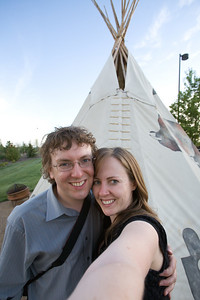 How on earth did I think to pose the two of us in front of the cool teepee, but didn't think to pose the bride and groom there?