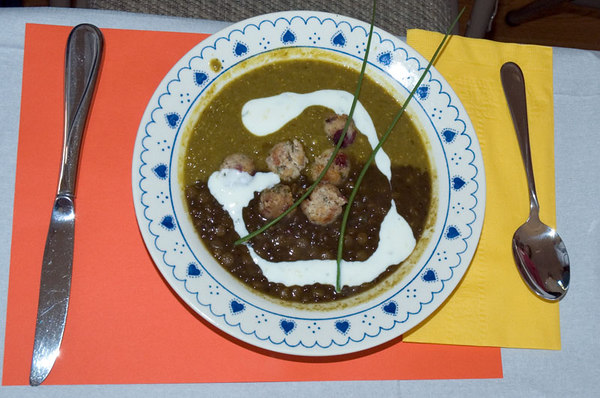 Soup! Available with meat-