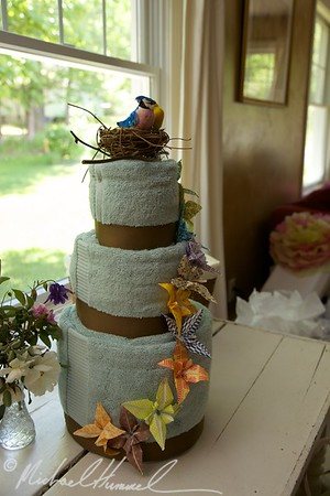 Towel Cake made by Sara