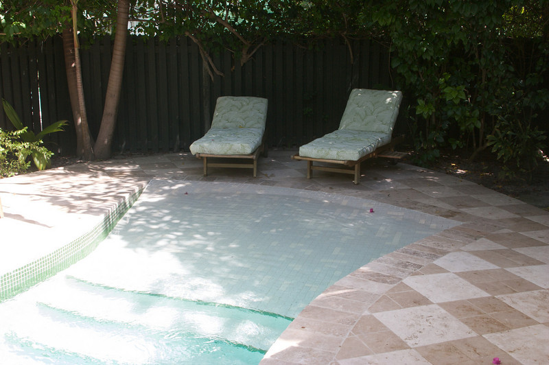 Our room patio & zero entry of our private pool