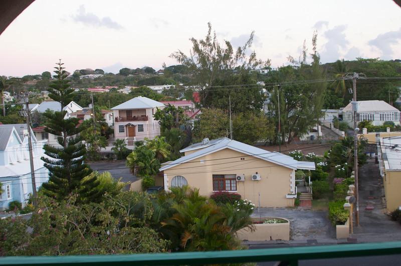 Barbados hotel room patio view