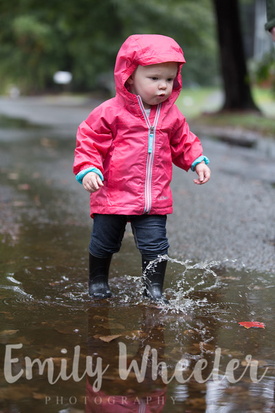 Day 275 | October 1st<br /> Splashing in the puddles! This was such a fun activity and I just loved watching her explore.