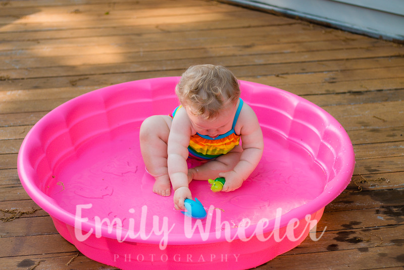 Day 146 | May 25th<br /> I was excited it was so warm out we could finally play in our mini pool! She loved it!