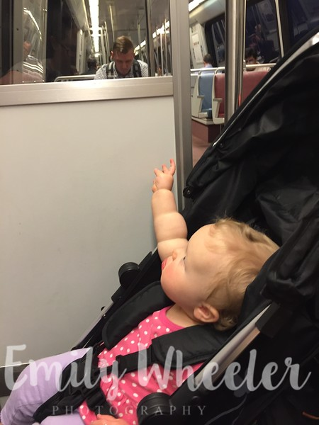 Day 113 | April 22nd<br /> Arwen's first subway ride! It was from the airport to our hotel on the Metro.