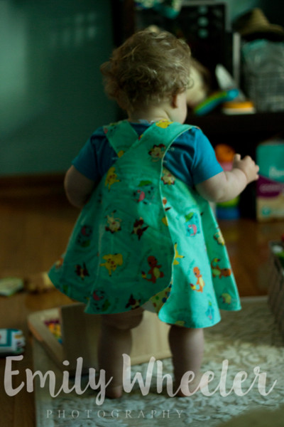 Day 160 | June 8th<br /> This was the only picture I got today, but it was a blurry one of her new Pokemon dress.