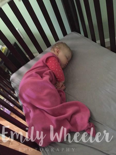 Day 117 | April 26th<br /> My little sleepy girl