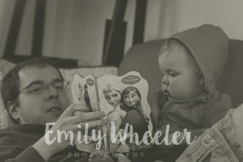Day 122 | May 1st<br /> Reading with da-dada