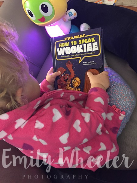 Day 308 | November 3rd<br /> She loves the 'How to Speak Wookie' book