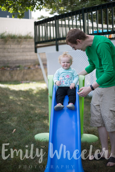 Day 249 | September 5th<br /> We caved a little bit and bought this sweetie a slide so our backyard is a little bit more exciting :)