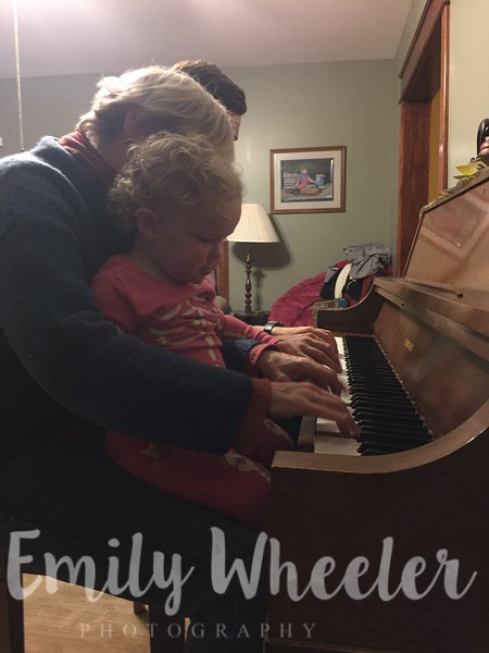Day 328 | November 23rd<br /> Playing the piano with Amma & Uncle Jon.