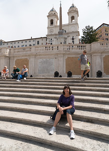 Mom on the Spanish Steps