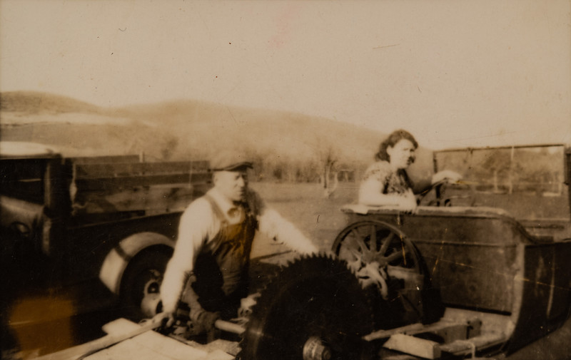 Ralph and Josephine Piersol, milling.