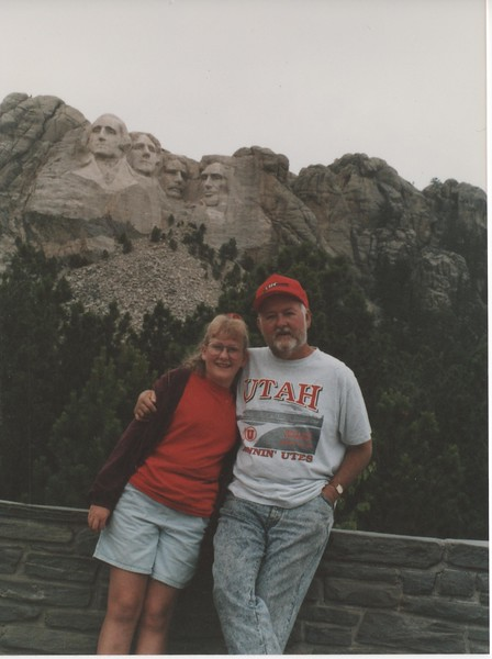 1992 July - Mt  Rushmore - Jessica, Bruce