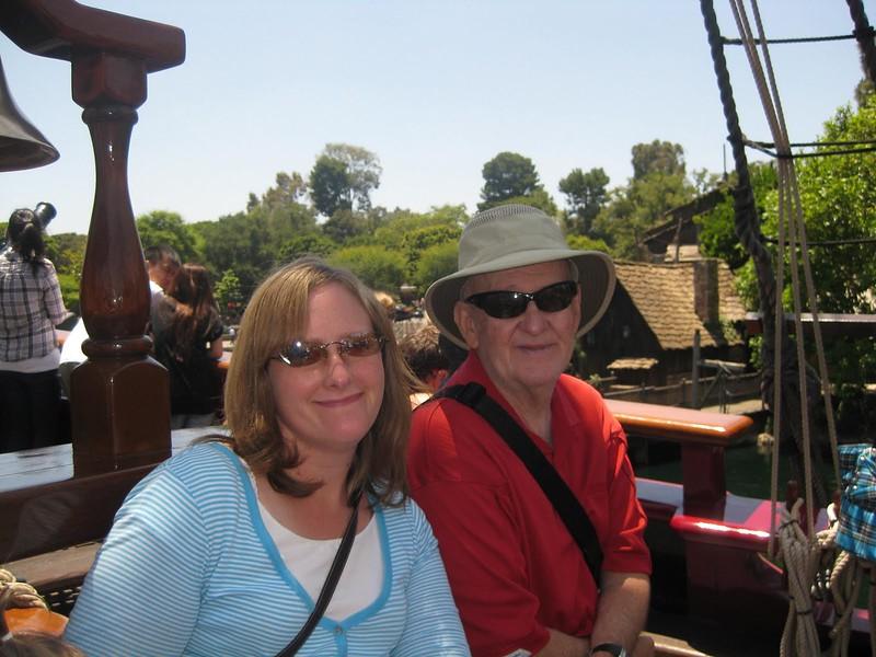 8820- Jessica, Bruce on ship in Adventureland