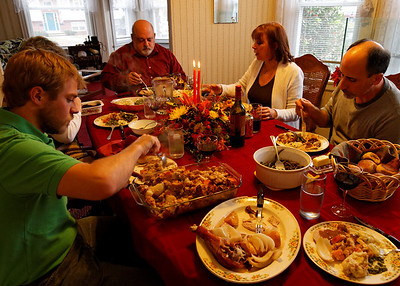 Time to eat and eat we sure did! Jonathan created a delicious feast, dinner rolls provided by Mary Ann :)