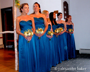 Ladies in Waiting for the bride