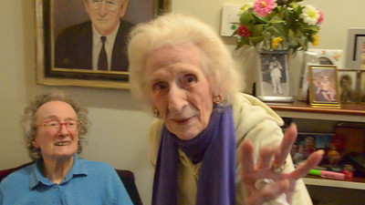Video of Last visit with Marion & Edith (2 of 3)