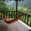 Back at Rancho Margot, it's Kathy's turn in the hammock.