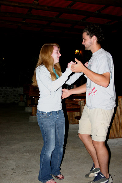 After dinner, our host Jose gave Hannah her first salsa lesson.