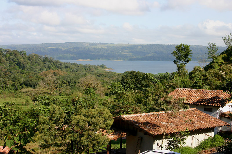 The view of Lake Arenal from our porch.