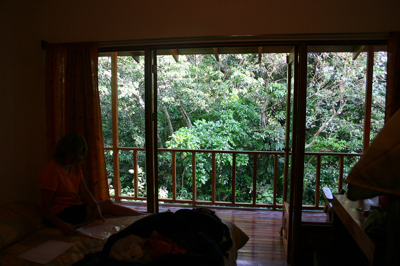 Our cabina was very comfortable and outside on the deck . . .