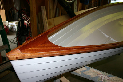 I used several coats of varnish on the mahogany trim.
