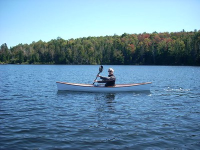 Paddling on Noyes Pond, Groton, Vermont, Fall 2008.