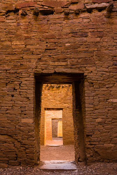 "The world famous ""Enfilade"" photo about 1 hour past sunrise inside Pueblo Bonito"
