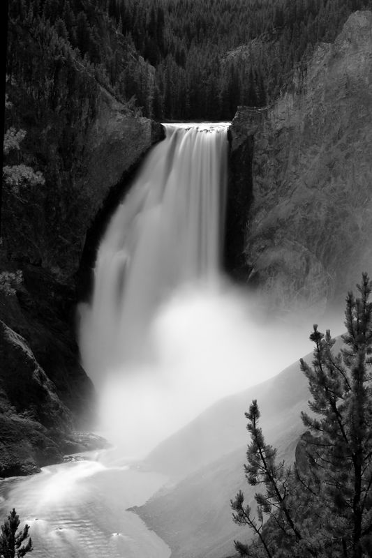 Lower Falls in Grand Canyon of the Yellowstone.