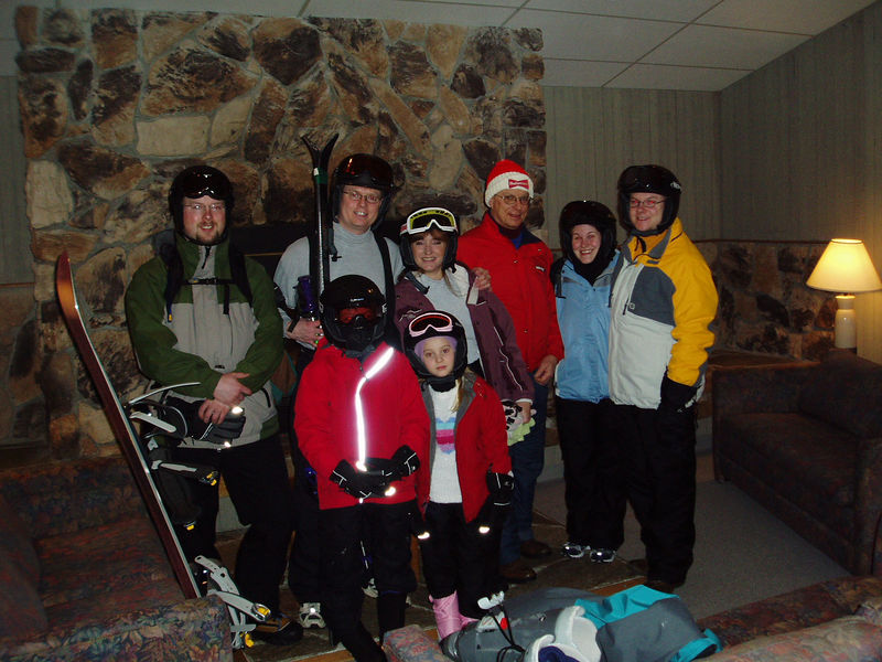 Day 1.  The crew gets ready to hit the slopes!