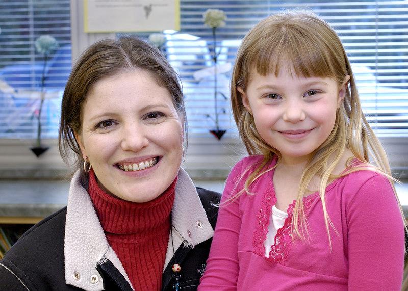 Kristin and her teacher Mrs. Lyons.