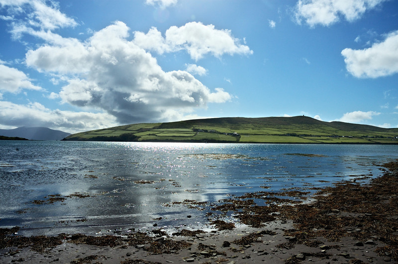 Walking along Dingle Bay