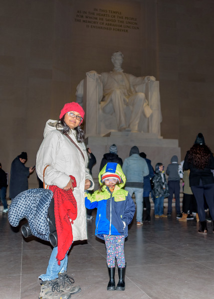 Shwetha and Avani at Lincoln Memorial