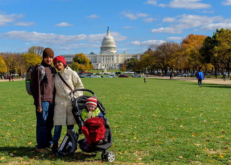 at National Mall with Capitol Hill in the background