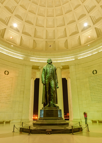 inside Thomas Jefferson Memorial