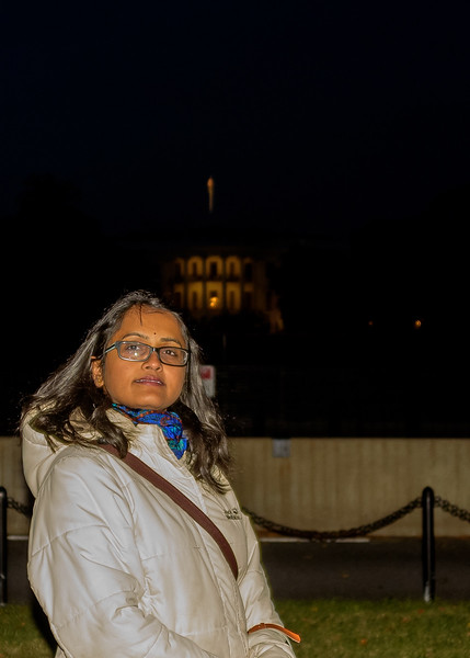 Shwetha in front of White House