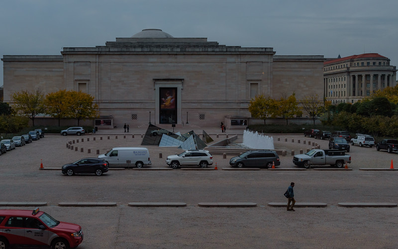 view of plaza in front of National Gallery of Art - East Building