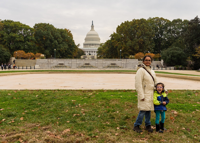 Avani & Shwetha in front of Capitol Hill