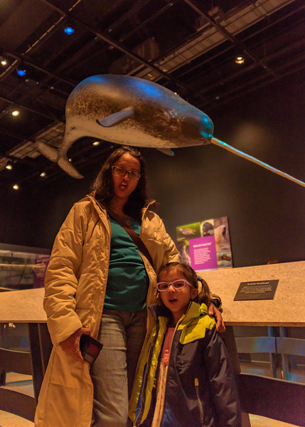 Avani & Shwetha at the Narwhal exhibit