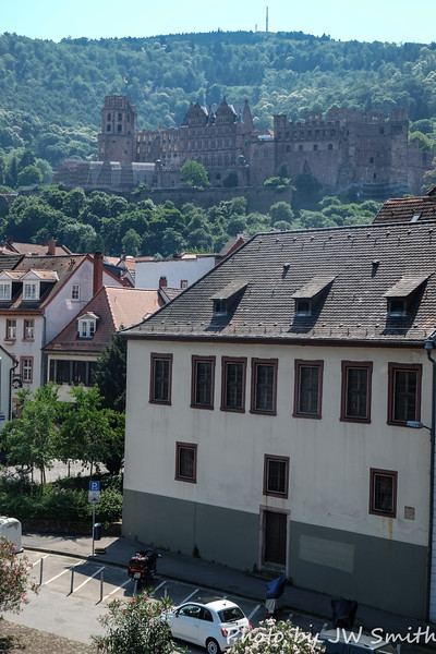 Heidelberg Castle from Town