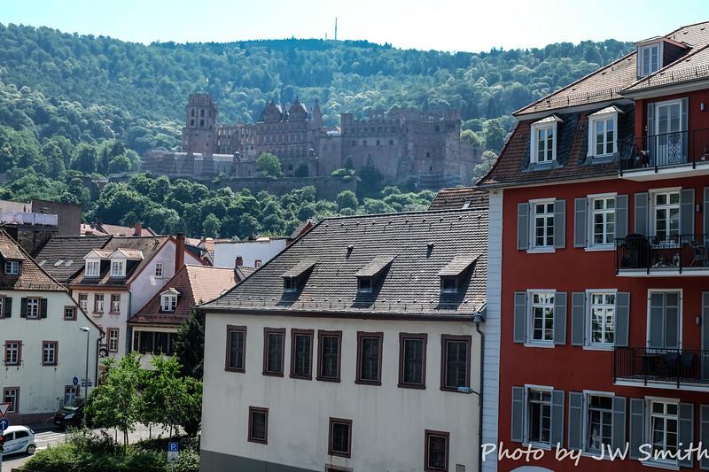 Heidelberg Castle from Town