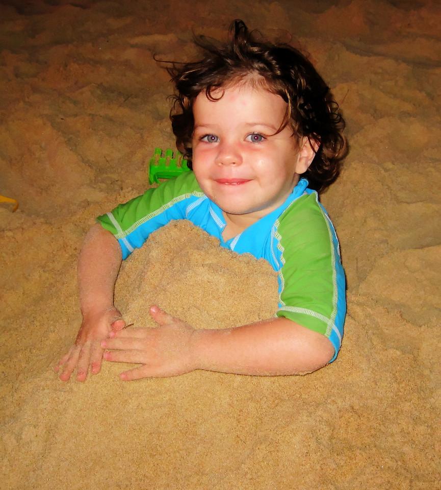 Emanuella on the beach, Cambodia