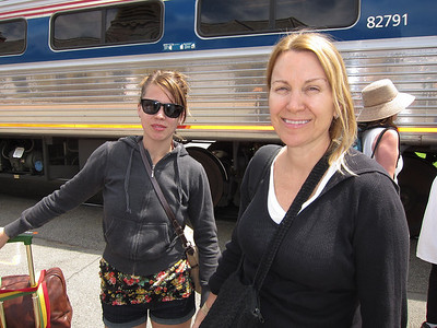 Bev and Paige took the train from NYC to join us.