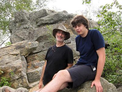 David and Ben on Chimney.