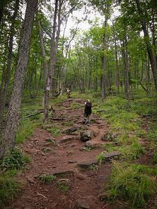 Climbing Chimney Mountain. Short, but steep.