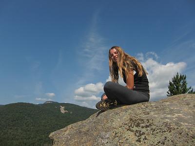 Gracie at the top of Pinnacle.