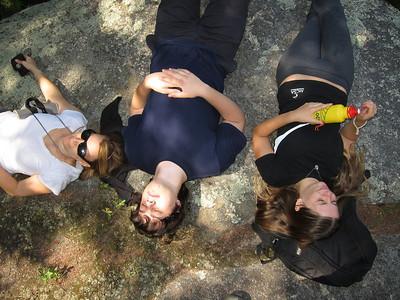 Bev, Ben and Gracie at the top of Pinnacle.