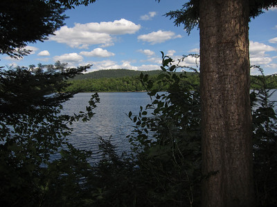 """Ben and I stayed in a two person """"tentlet"""", which is basically a mini cabin. This was our view."""